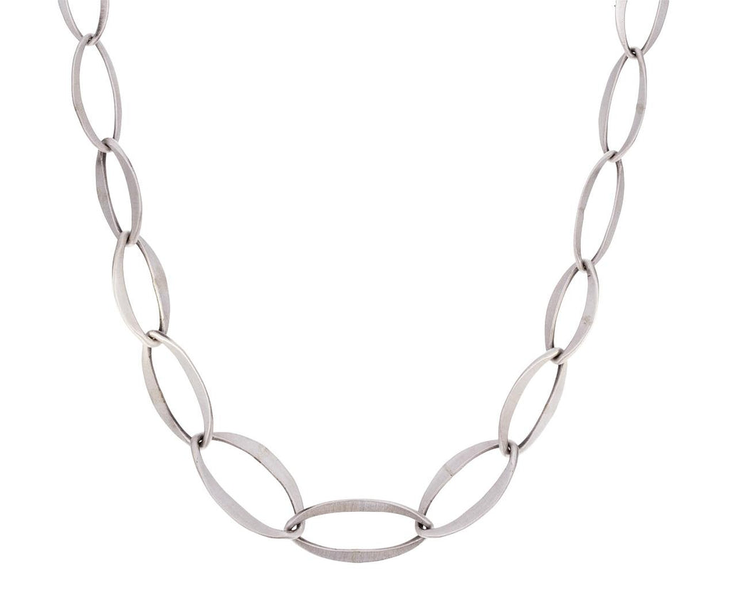 Graduated Sterling Silver Link Necklace - TWISTonline