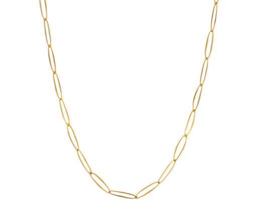 Delicate Gold Oval Link Chain Necklace - TWISTonline
