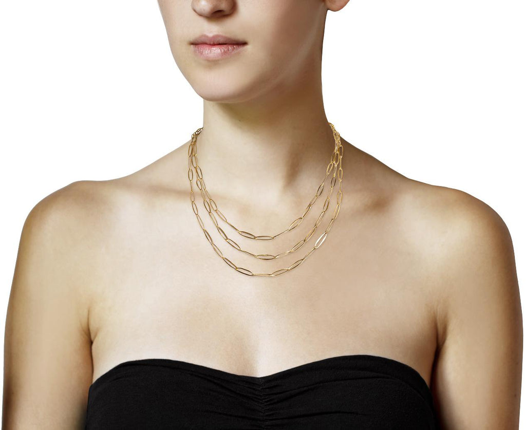 Gold Plated Delicate Oval Link Chain - TWISTonline