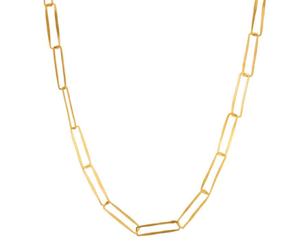 Gold Delicate Paper Clip Chain Necklace - TWISTonline