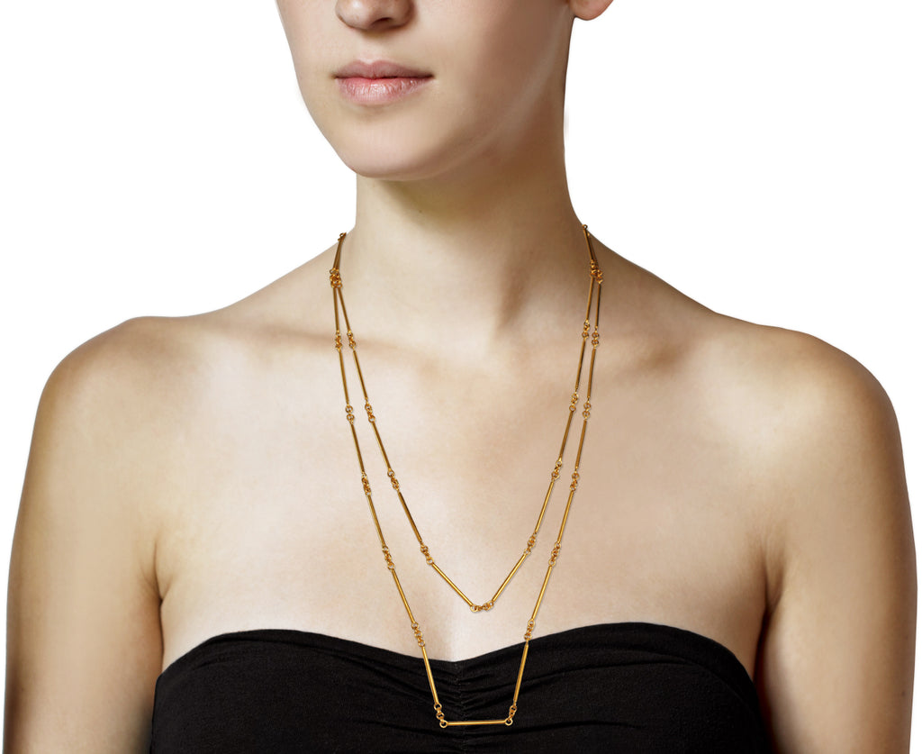 Long Bar Chain Necklace - TWISTonline