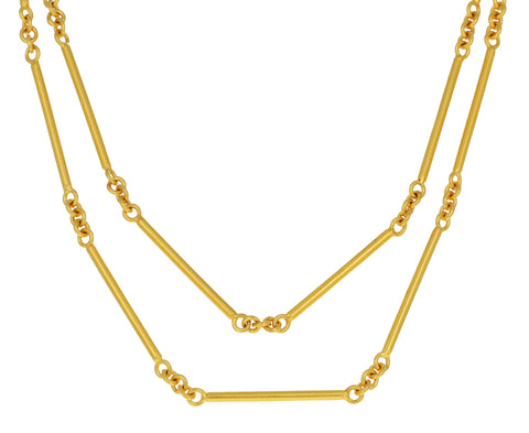 Long Bar Chain Necklace