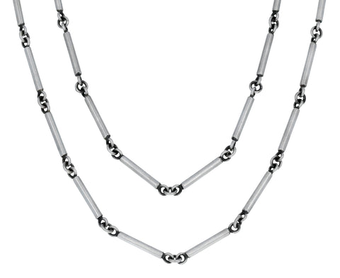 Silver Bar Chain Pendant Necklace - TWISTonline