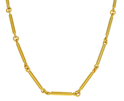 Gold Plated Bar Pendant Necklace