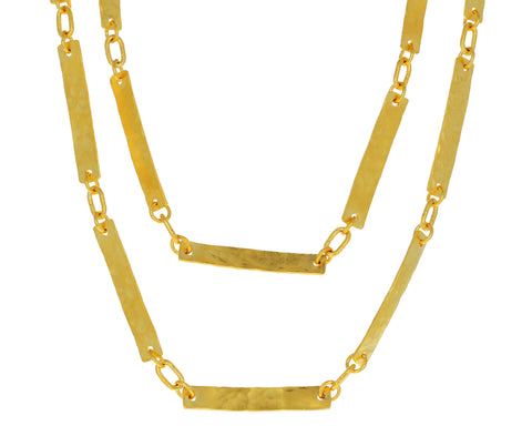 Hammered Bar Chain Necklace - TWISTonline