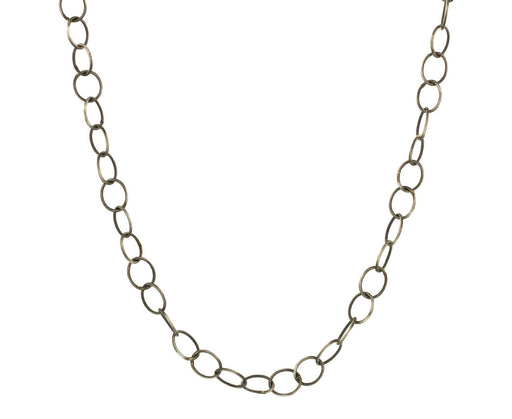 Oxidized Sterling Silver Circle Link Necklace - TWISTonline