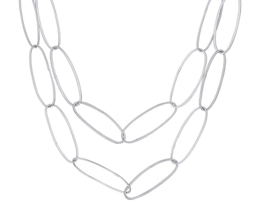 Oval Silver Link Necklace - TWISTonline