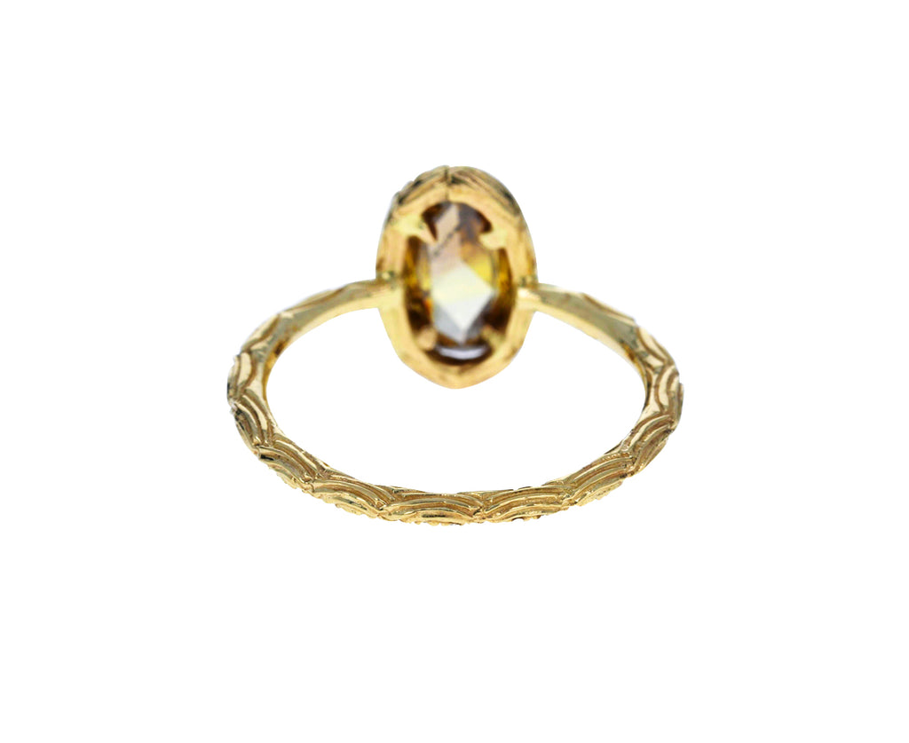 Oval Champagne Diamond Oona Ring - TWISTonline