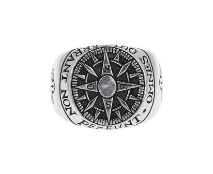 Compass Signet Ring