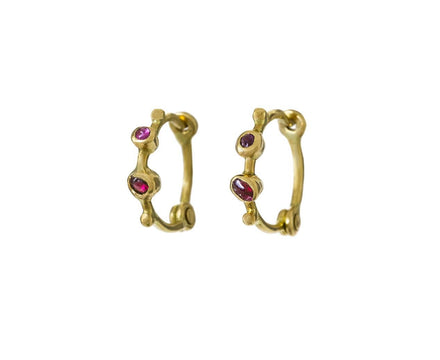 Multi-Gem Anneaux Hoop Earrings - TWISTonline
