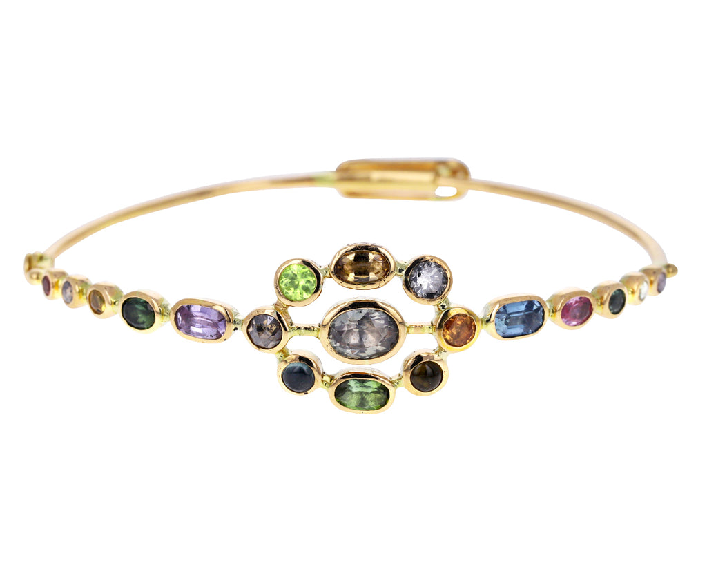 Rainbow Couronnement Bangle Bracelet