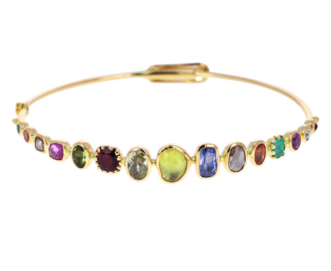 Rainbow Souriant Bangle Bracelet