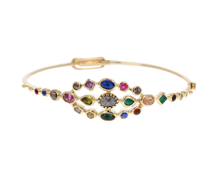 Multi Gem Couronnee Bracelet