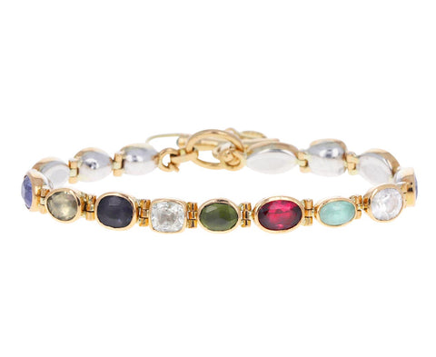 Mixed Gem Souple Bracelet