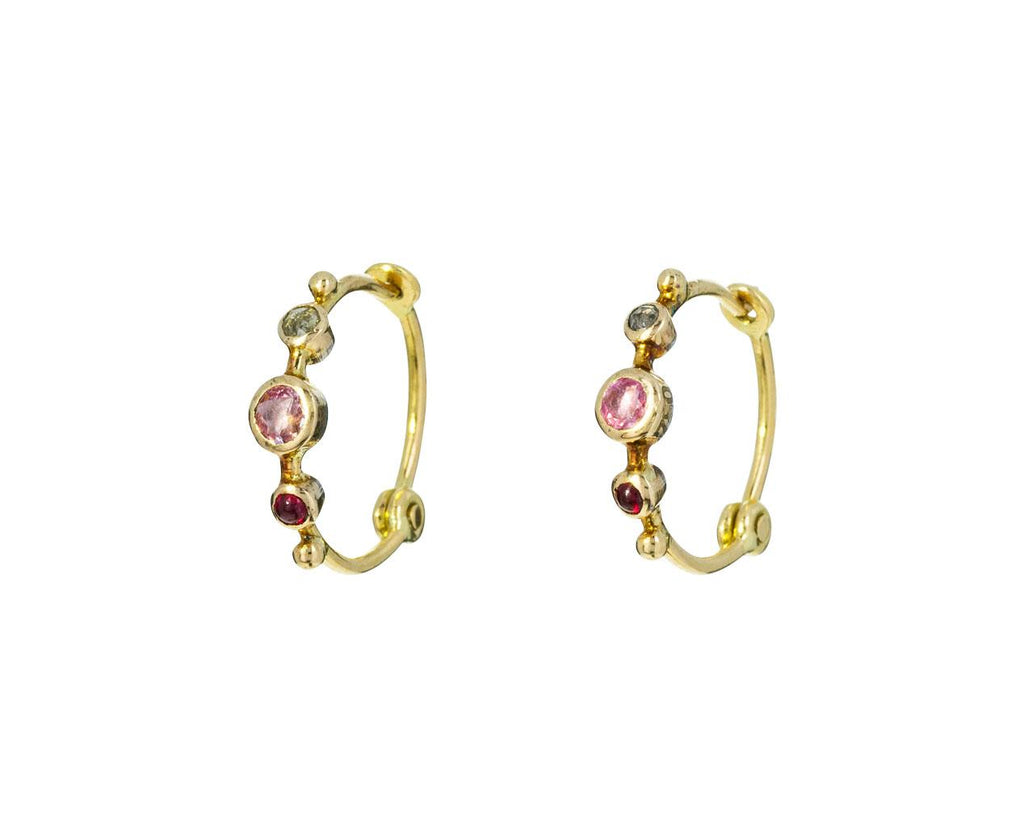 Multi-Gem Mini Hoop Earrings zoom 1_dorette_gold_spinel_sapphire_diamond_earrings