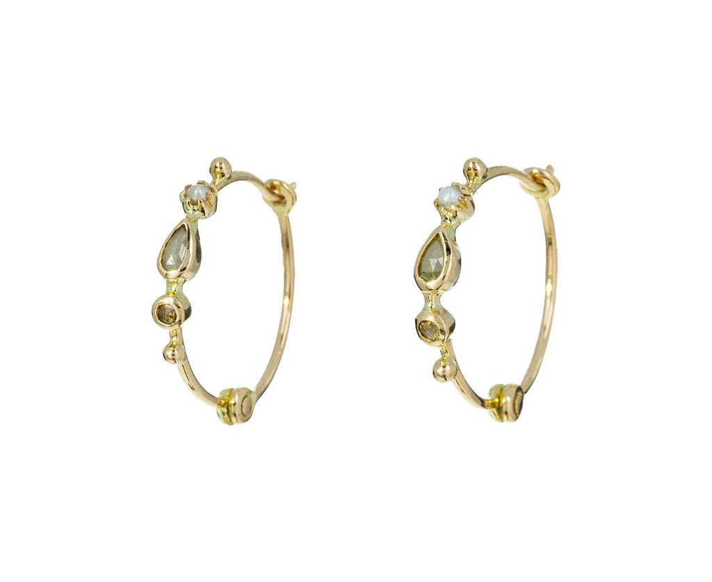 Diamond and Pearl Hoop Earrings zoom 1_dorette_gold_pearl_diamond_earrings