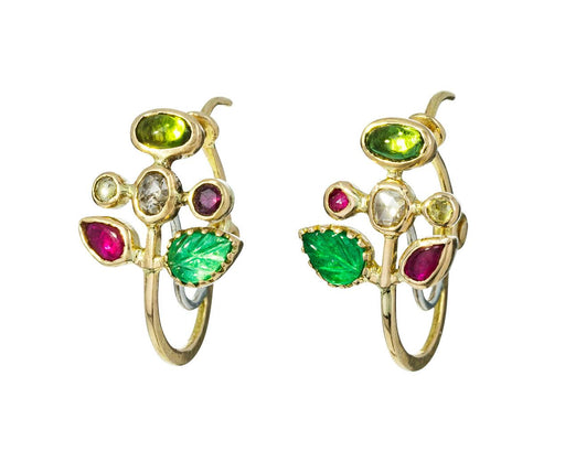 Multi-Gem Fleur Earrings - TWISTonline