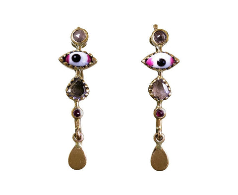 Bo Poissardes Earrings with Diamonds - TWISTonline