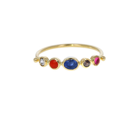 Multi Gem Simple Ring