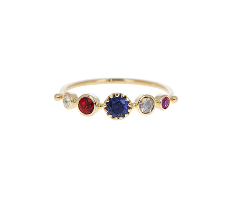 Multi Gem Simple Ring - TWISTonline