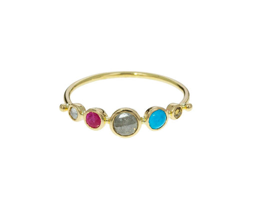 Multi-Gem Simple Ring - TWISTonline