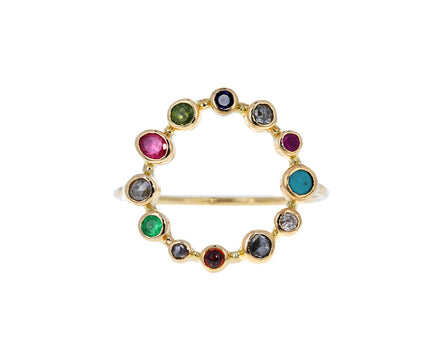 Multi Gem Couronnée Ring