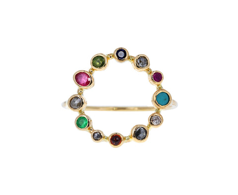 Multi Gem Couronnée Ring - TWISTonline