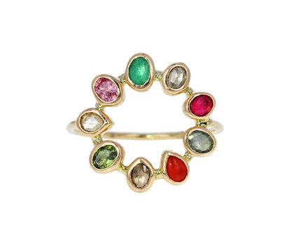 Multi Gem Bague Couronnée Ring - TWISTonline