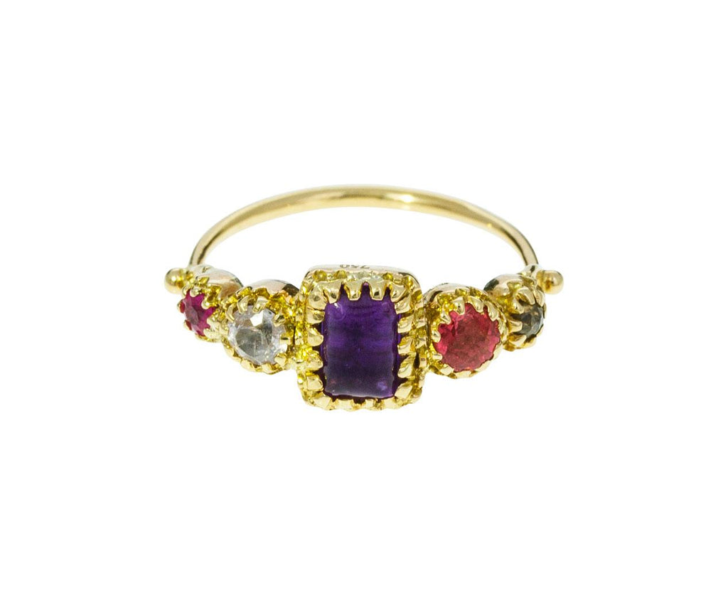 Multi-Gem Jarretière Ring - TWISTonline