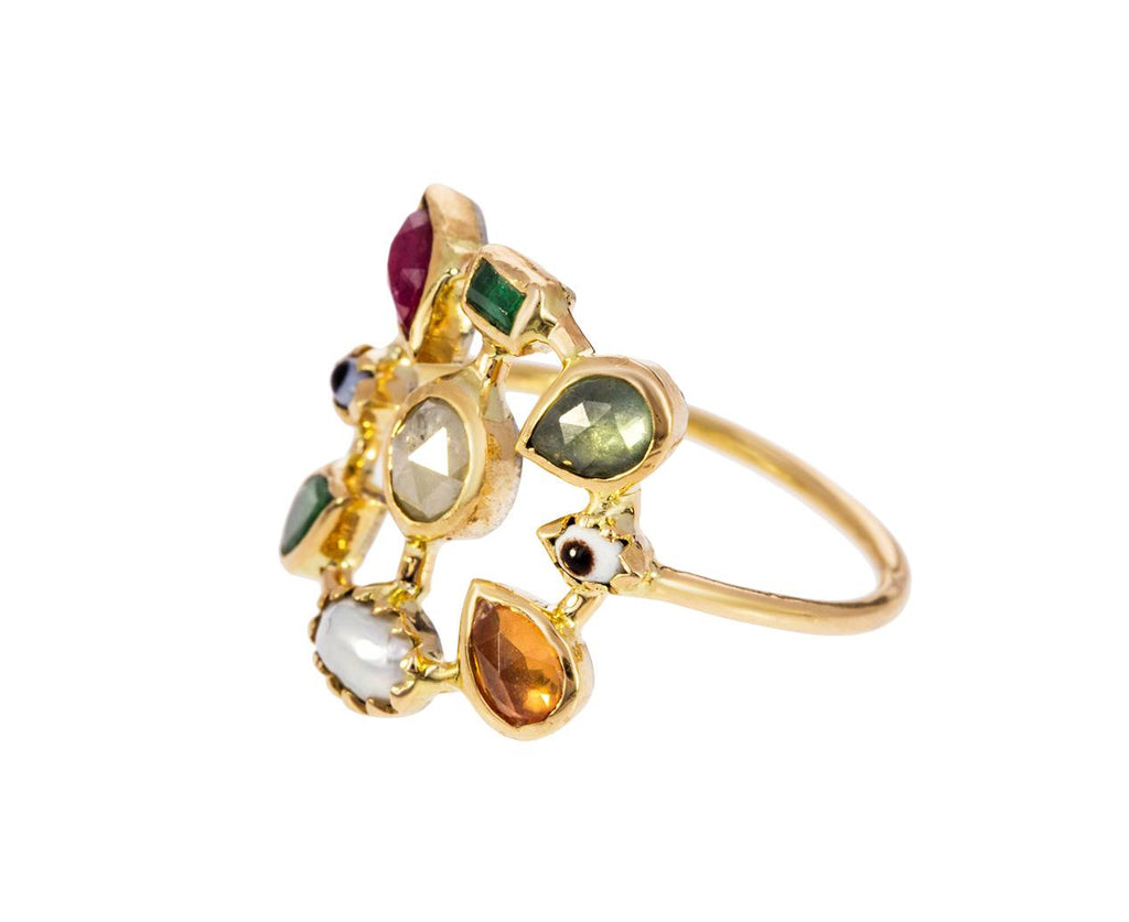 Multi-Gem Tapis Volant Ring - TWISTonline