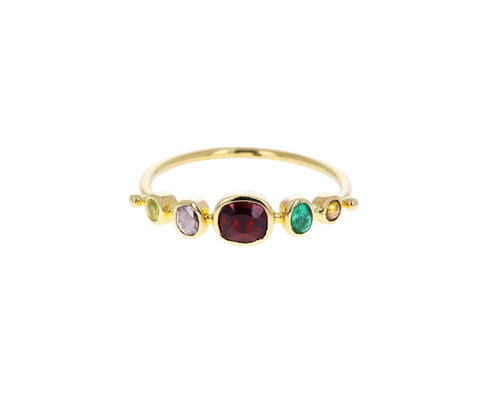 Mixed Gem Simple Ring