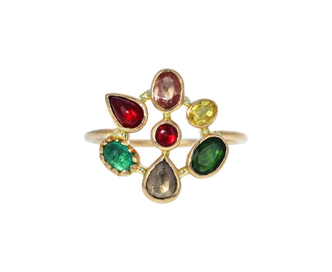 Multi Gem Couronnee Ring - TWISTonline