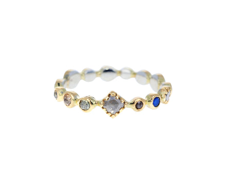 Diamond and Moonstone Eternity Band