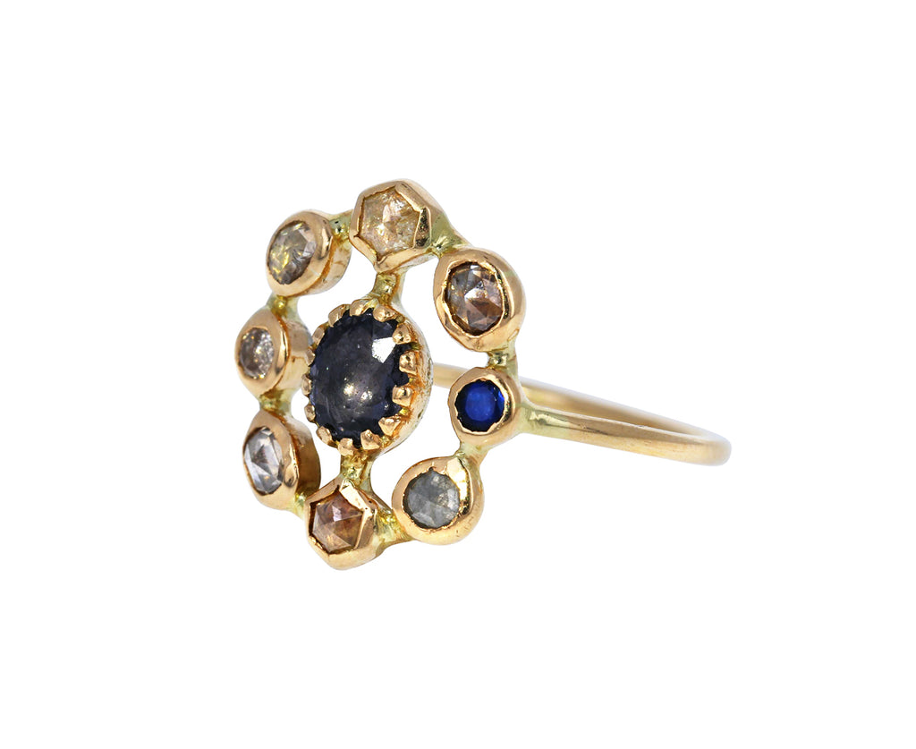 Diamond and Spinel Couronnee Ring - TWISTonline