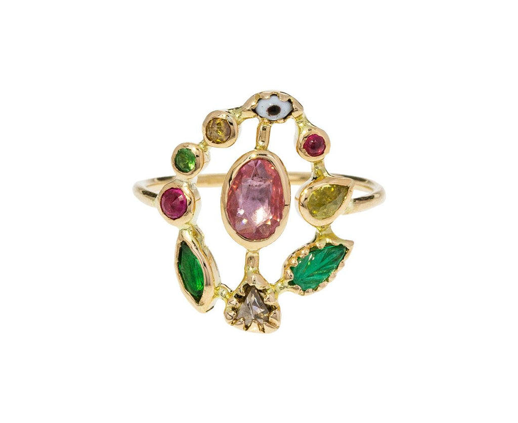 Multi-Gem Evil Eye Ring - TWISTonline