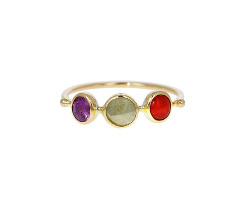 Three Stone Simple Stacking Ring