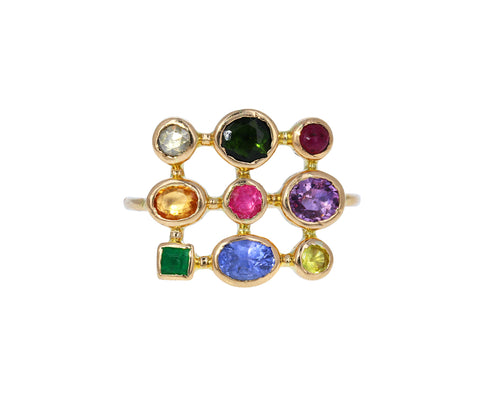 Multi Gem Bague Jardin Ring