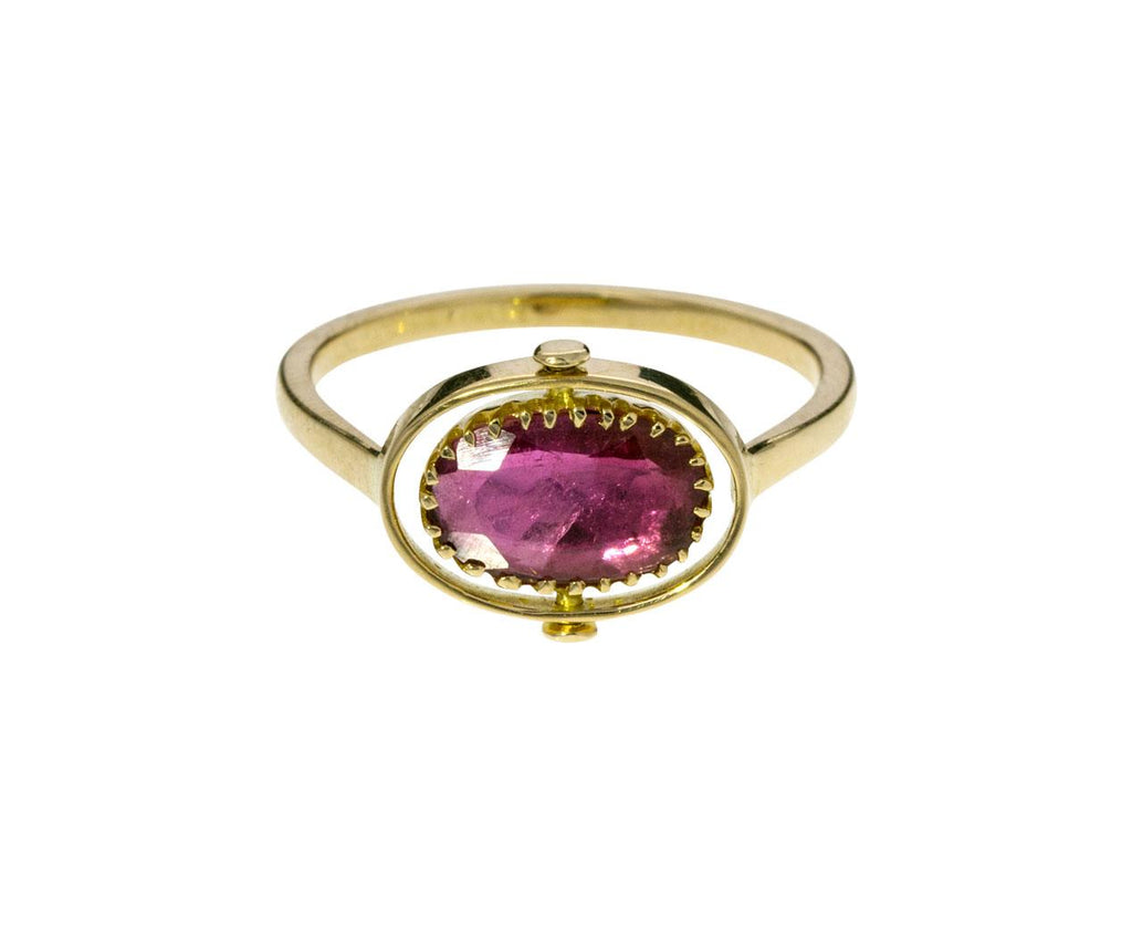 Diamond Pink Tourmaline Swivel Ring - TWISTonline