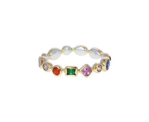 Multi Gem Eternity Band
