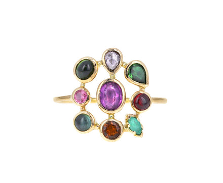 Rainbow Mixed Gem Jardin Ring