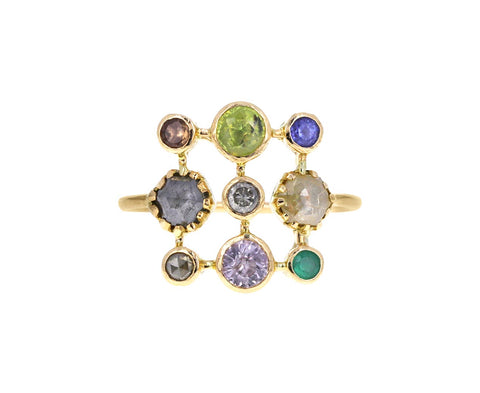 Mixed Gem Super Couronnee Ring