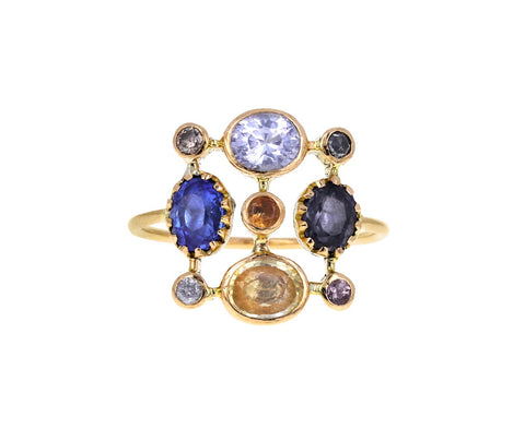 Mixed Sapphire Super Couronnee Ring