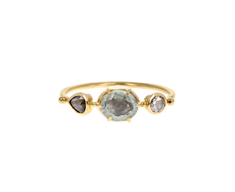 Chrysoberyl and Diamond Simple Ring