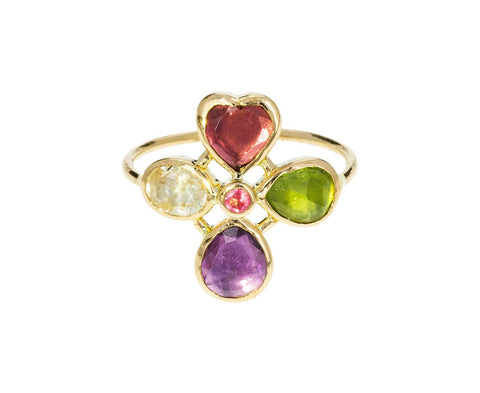 Multi-Gem Flower Ring - TWISTonline