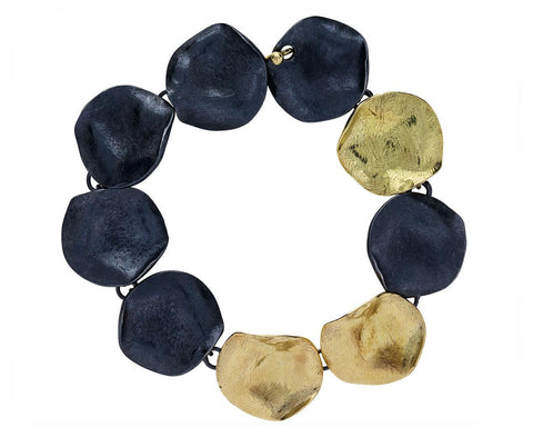 Floating in the Dark Disc Bracelet zoom 1_emanuela_duca_gold_silver_floating_in_the_dark_b