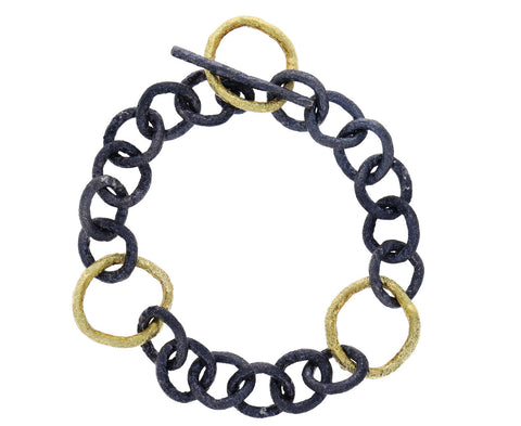 Spark and Soul Mixed Gold Chain Bracelet