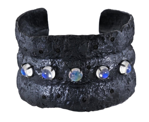 Blue Mountian Moonstone and Black Diamond Cuff - TWISTonline