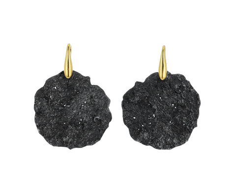 Blackened Sterling Silver Respiro Earrings