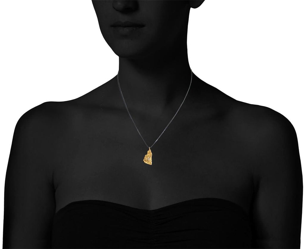 Gold and Diamond Burst Pendant Necklace - TWISTonline