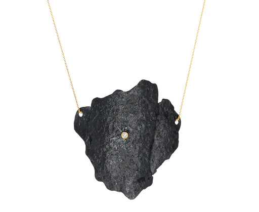Blackened Sterling Silver Letting Go Pendant Necklace - TWISTonline